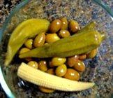 pickled okra pods