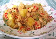 pineapple cashew quinoa stirfry