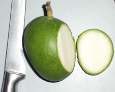 Raw green mango