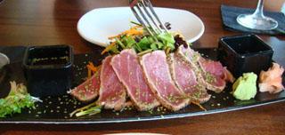 Yellowfin tuna-pan seared