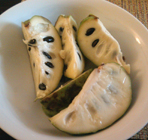 cherimoya slices