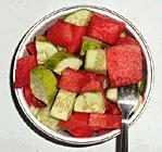 cucumber watermelon cubes