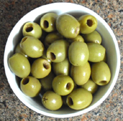 cured green olives