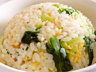Fried-rice-with-Komatsuna