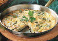 leeks zucchini cheese frittata