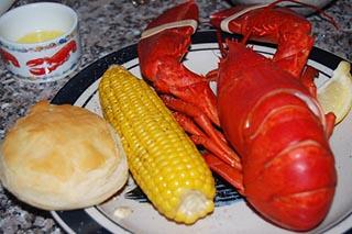 Maine lobster dinner