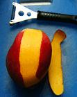 mango peel with fruit peeler