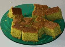 cake prepared with dried moringa leaf powder