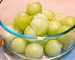 honeydew melon balls