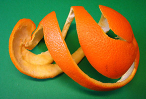 orange fruit peel