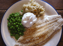 plaice served with mashedceleriac