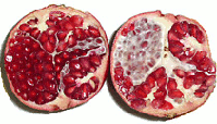pomegranate fruit inside view