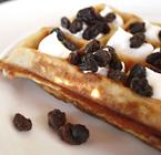waffles with raisin