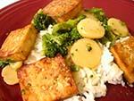 tofu waterchestnuts rice