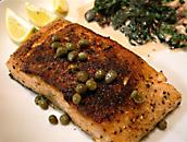 tuna with caper sauce