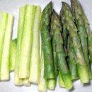 peeled asparagus shoots