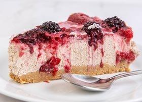 blackberries cheesecake