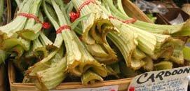 Cardone stalks in a market