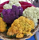 colourful cauliflowers