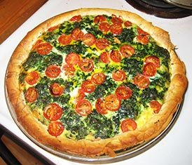 cherry tomatoes-quiche