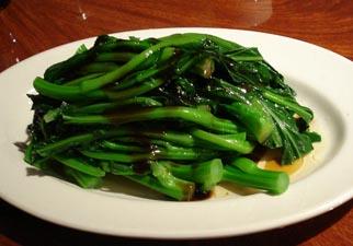 Choy sum stir fry in garlic sauce