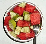 cucumber watermelon cubes