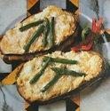 asparagus-eggplant sandwich