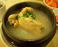samgye-tang (ginseng chicken soup)