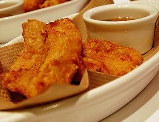 Hake fish and chips