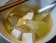 kohlrabi-soybean curd soup