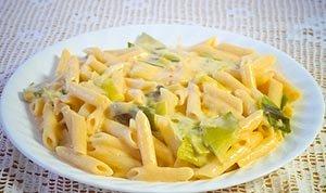 leek cheddar pasta