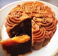 Mid-autumn festival  lotus seed paste cake