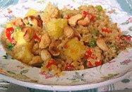 pineapple cashew quinoa stir-fry