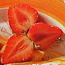 cut section of strawberry